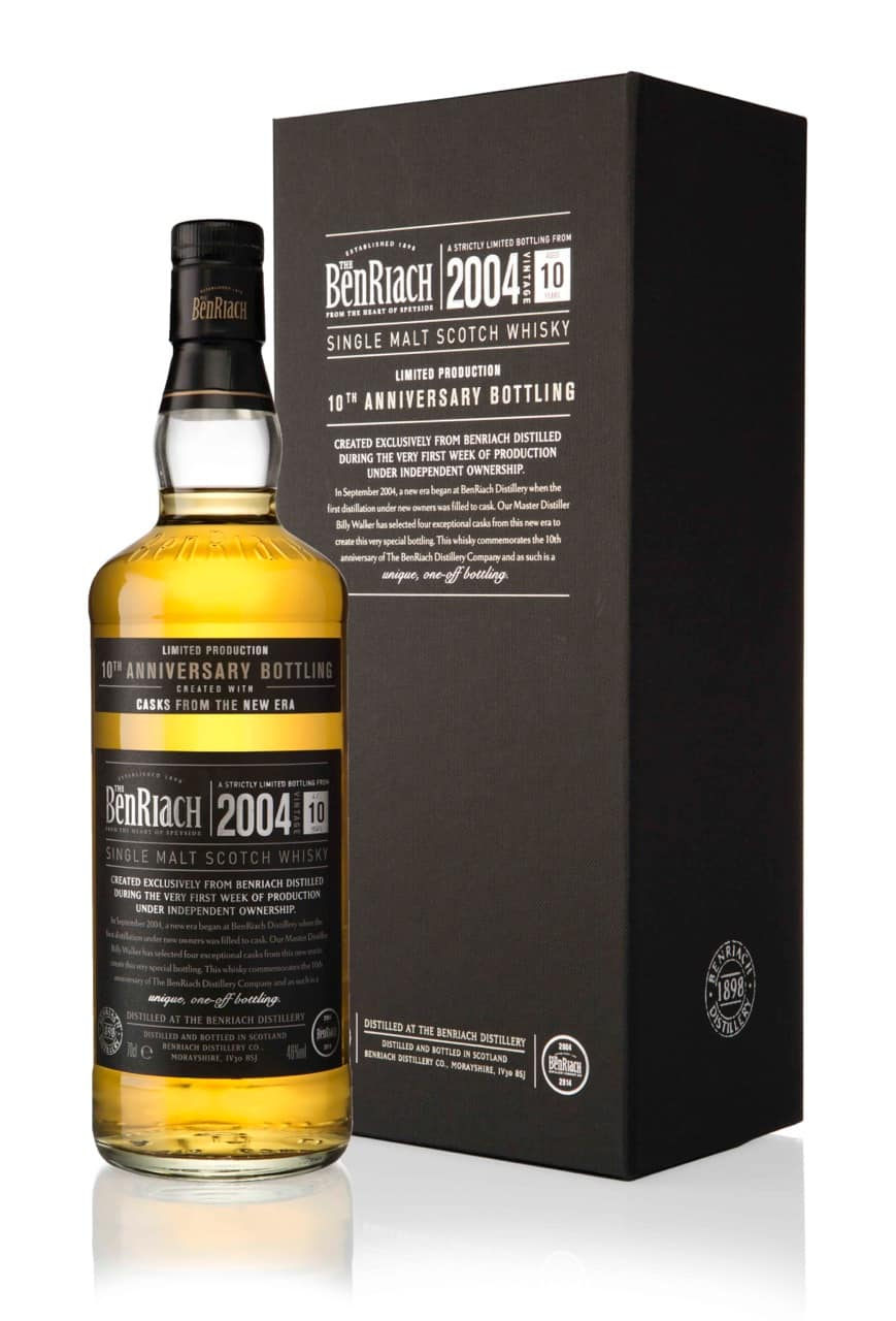BenRiach 10th Anniversary infront of box LR