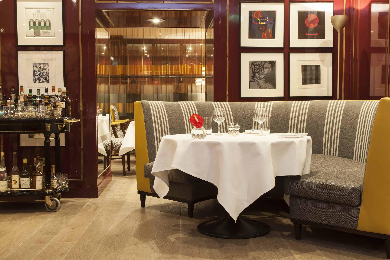 The Balmoral Number One Interior Restaurant Banquette Landscape