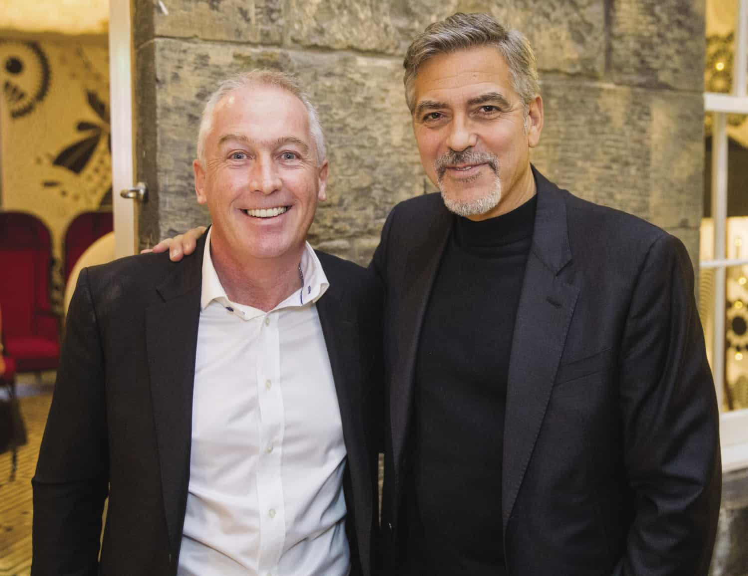 Clooney meet licensed trade a-lister withers!