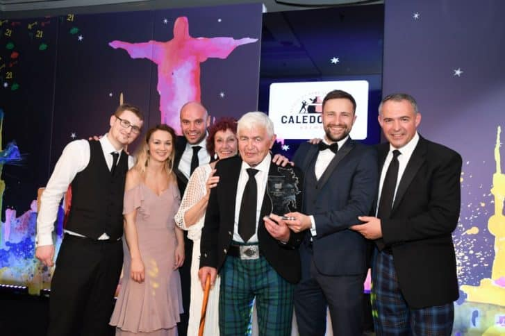 Team from Gallery48 Dundee / Presented by Andy Maddock (Caledonian Brewery)