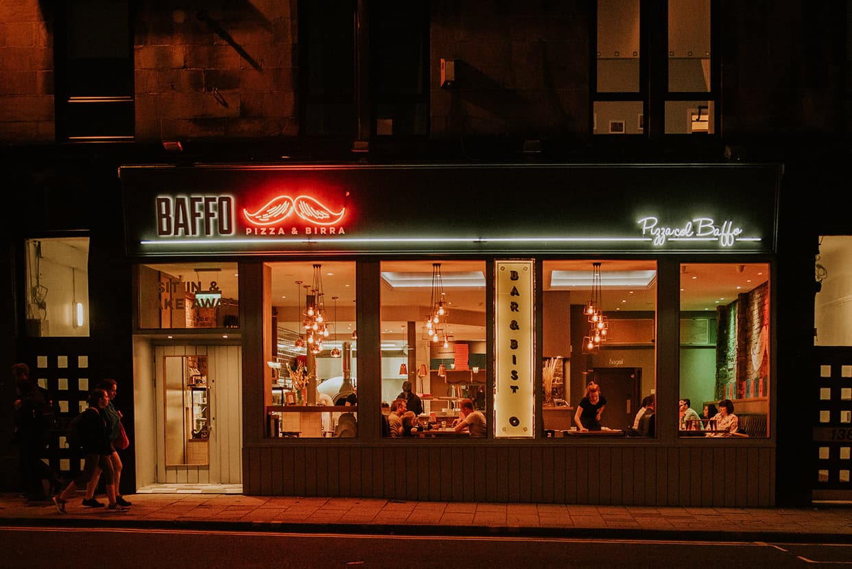 design focus  baffo restaurant glasgow