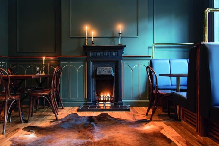 Voyage of Buck Fireplace