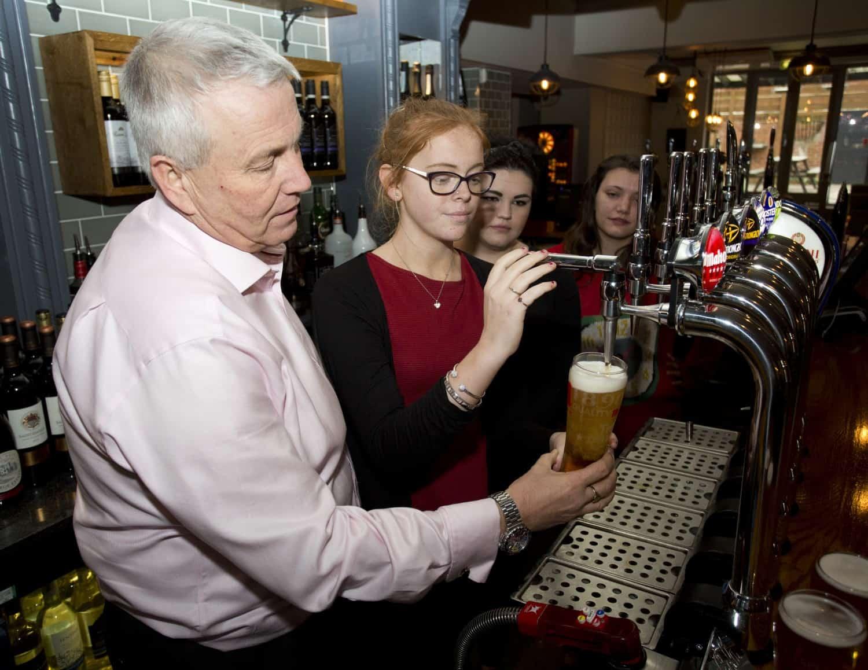 Greene King Pub Partners in pub training shot