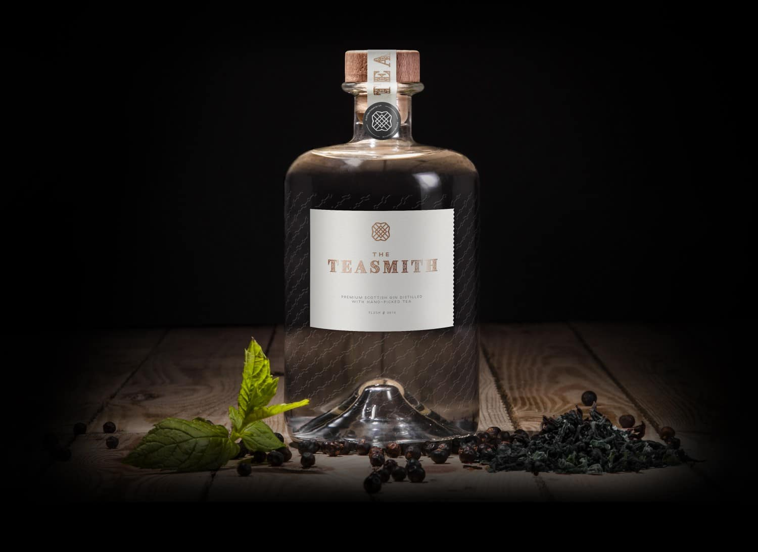 The Teasmith Gin bottle