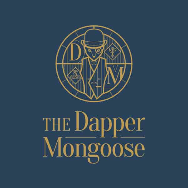 Dapper-Mongoose-Logo-Gold-on-Blue