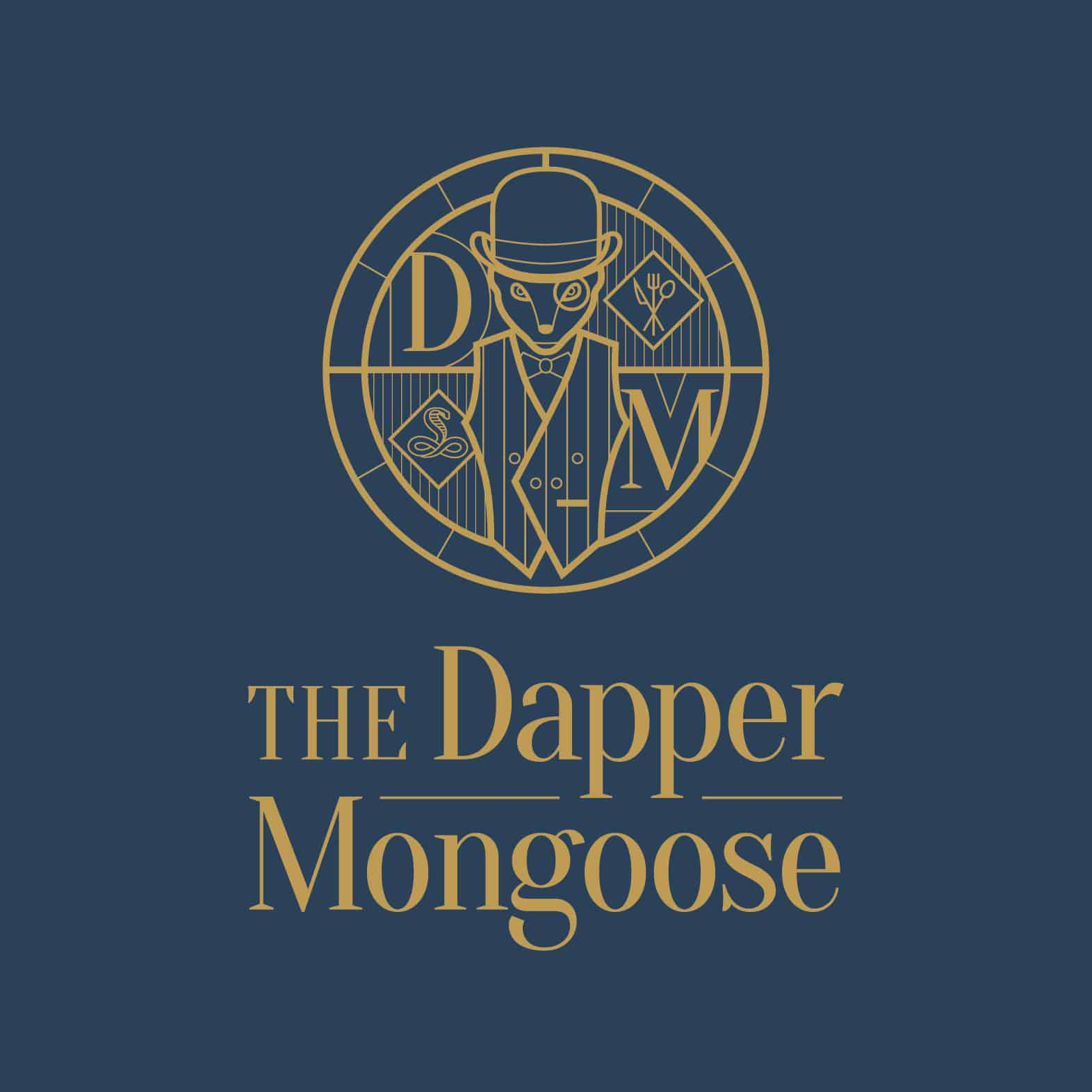 Dapper-Mongoose-Logo-Gold-on-Blue