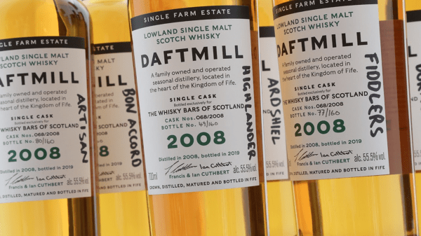 The rare whisky auctioned