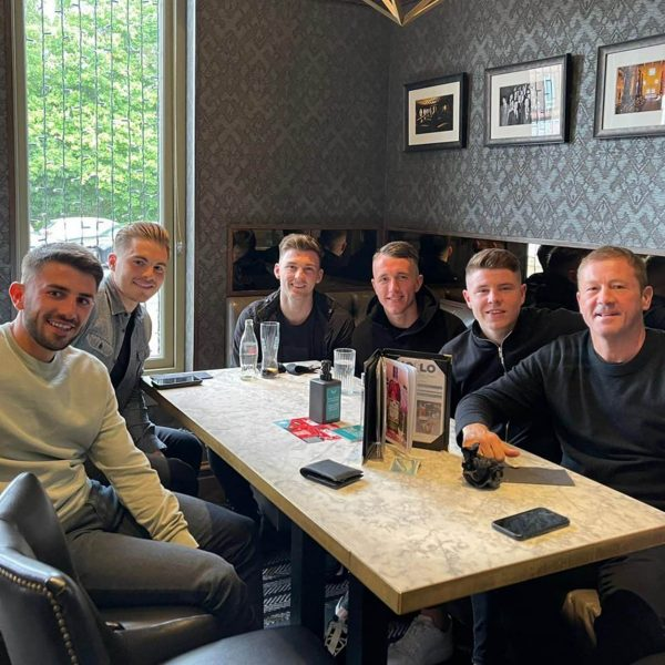 Nicky Hood and Scotland players