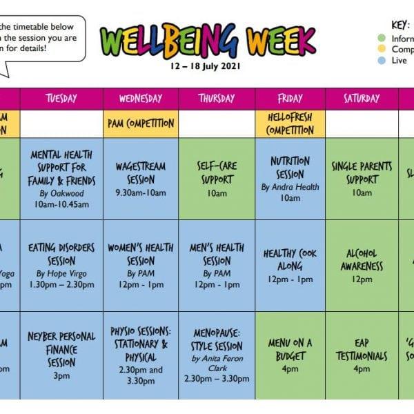 Wellbeing-Week-timetable